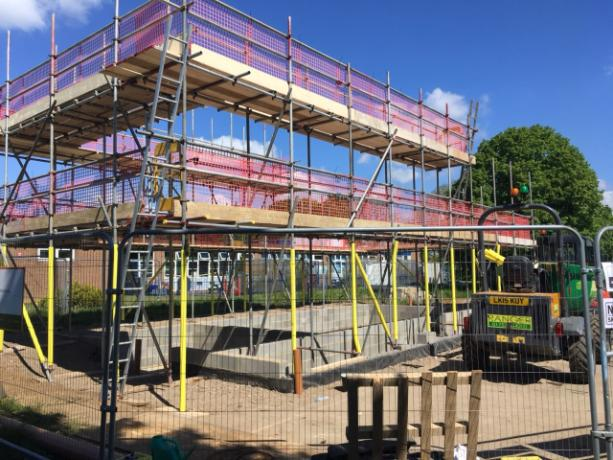 Scaffolding is erected - May 2019